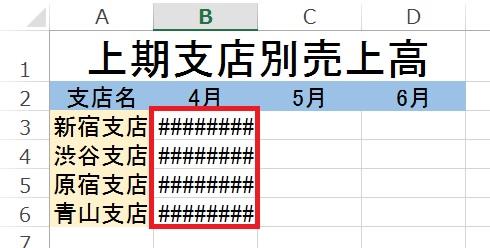 Excelのセルで「####」と言う表示がされる時